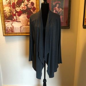 Charcoal gray knit cardigan like new